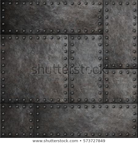 Grunge fém tányér keret ipari acél Stock fotó © haraldmuc