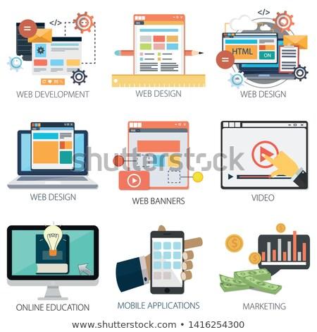 ウェブ 開発 を 作業 ノートパソコン 画面 ストックフォト © tashatuvango