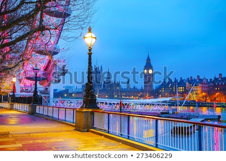 Overview of London with the Clock tower early in the morning Stock photo © AndreyKr