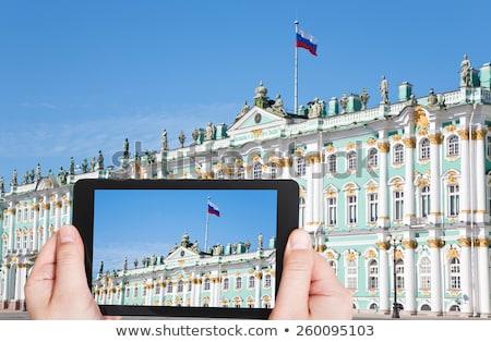 Tableta Rusia bandera imagen prestados Foto stock © tang90246