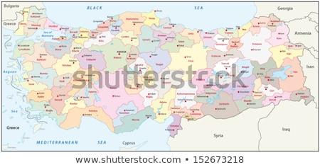 Harita Türkiye kamyonet dışarı yalıtılmış beyaz Stok fotoğraf © Istanbul2009