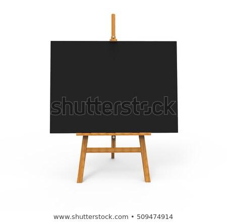 древесины мольберт белый холст мало Сток-фото © FOTOYOU