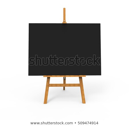 vierkante · tentoonstelling · stand · geïsoleerd · witte · 3d · render - stockfoto © fotoyou