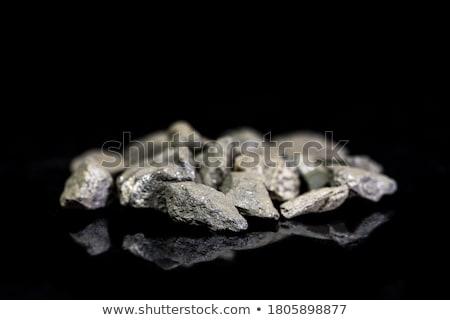 Mineralny odizolowany biały tle krystalicznie muzeum Zdjęcia stock © jonnysek