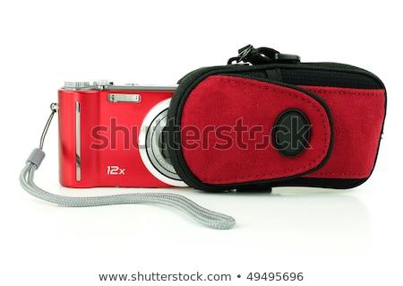 zwarty · aparat · cyfrowy · worek · tle · czarny · biały - zdjęcia stock © ozaiachin
