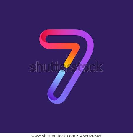 Número vetor rosa ícone web projeto digital Foto stock © rizwanali3d