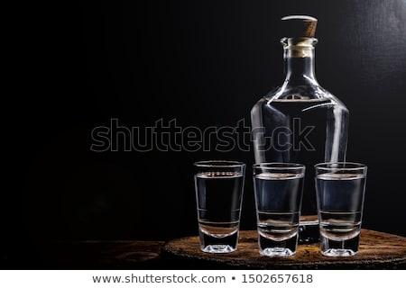 şişeler gözlük alkollü içkiler plaj sanat bar Stok fotoğraf © shawlinmohd