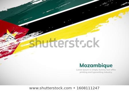 Moçambique país bandeira mapa forma texto Foto stock © tony4urban