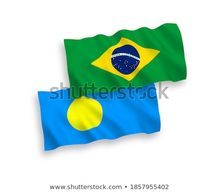 Brazil and Palau Flags Stock photo © Istanbul2009