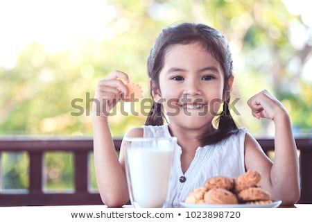 весело Kid конфеты молоко рождения Сток-фото © AndreyCherkasov