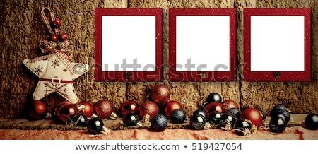 Christmas three empty photo frames Stock photo © marimorena