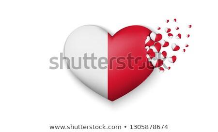Amor Malta assinar isolado branco coração Foto stock © MikhailMishchenko