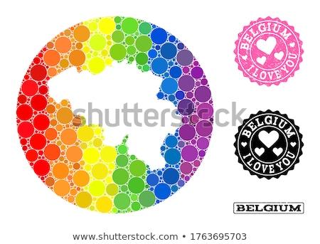 Bélgica gay mapa país orgullo bandera Foto stock © tony4urban