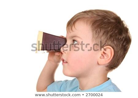 Jongen doorzichtigheid projector familie kind film Stockfoto © Paha_L