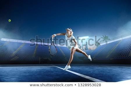 スポーツ 少女 ボール 強い 良い スポーツ ストックフォト © bezikus