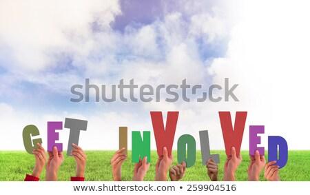 Composite image of get involved Stock photo © wavebreak_media