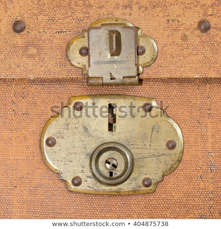 Old canvas trunk lock close up Stock photo © michaklootwijk