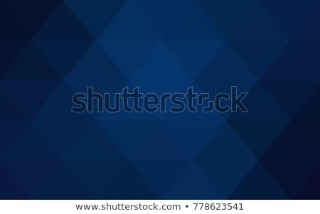 Triangular Low Poly Dark Blue Pattern Stock photo © pashabo