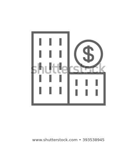 Condominium with dollar symbol line icon. Stock photo © RAStudio