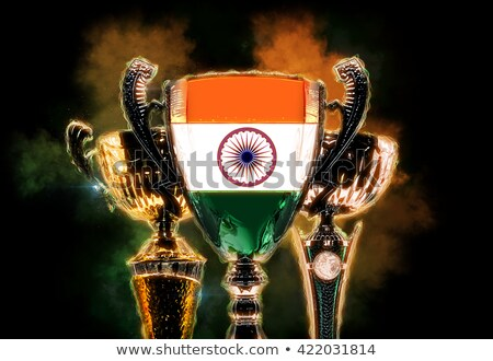 Trophy cup textured with flag of India. Digital illustration Stock photo © Kirill_M