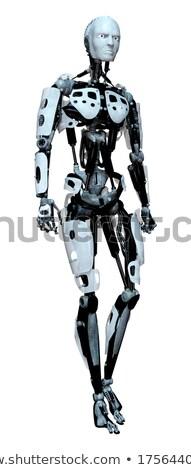 3D · мышцы · человека · оказанный · белый · изолированный - Сток-фото © illustrart