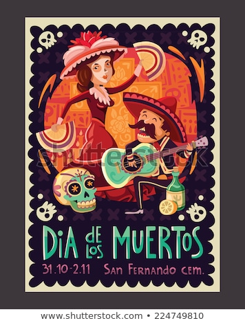 Flamenco party invitation card, vector illustration Stock photo © carodi