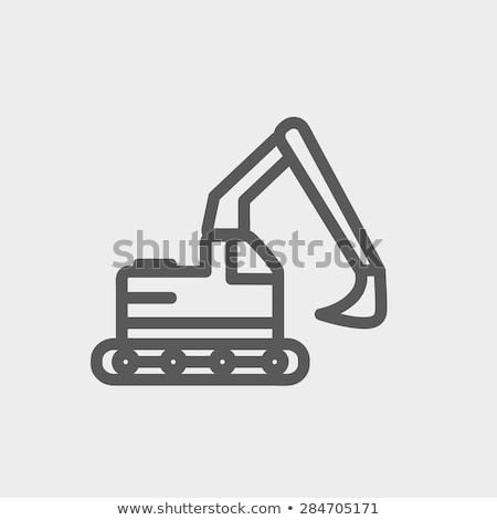 Light excavator icons Stock photo © Yuriy