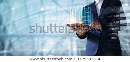 金融 · ダイアグラム · 市場 · クローズアップ · 液晶 - ストックフォト © klss