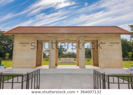 Chungkai War Cemetery, THailand stock photo © Yongkiet