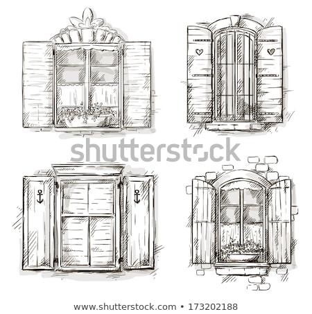 Edifício fachada velho windows clássico Foto stock © stevanovicigor