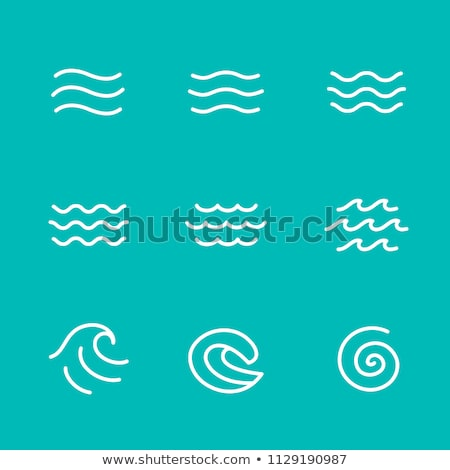 Stock photo: Water Wave Icon Logo Template