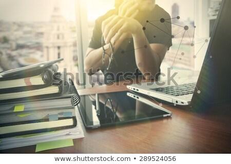 Mobil elektronika üzlet iroda asztali laptop Stock fotó © stevanovicigor