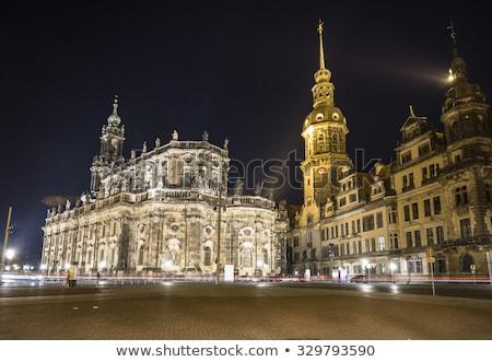 Сток-фото: Дрезден · небе · город · Церкви · путешествия · замок