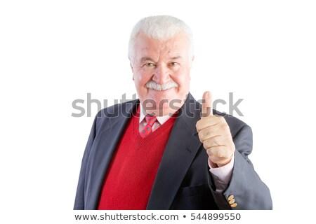 Kıdemli gülümsüyor kamera iş Stok fotoğraf © ozgur