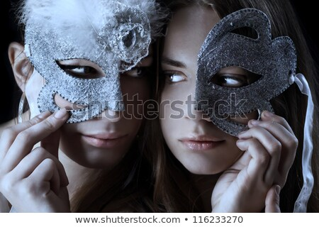 couple at the masked ball Stock photo © adrenalina
