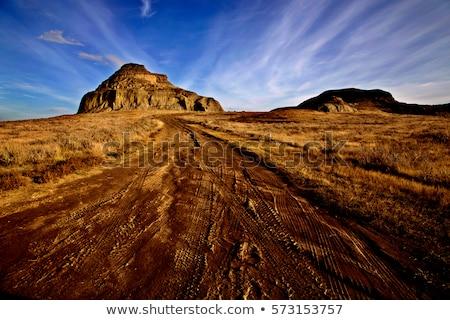 Kastély nagy sáros völgy Saskatchewan égbolt Stock fotó © pictureguy