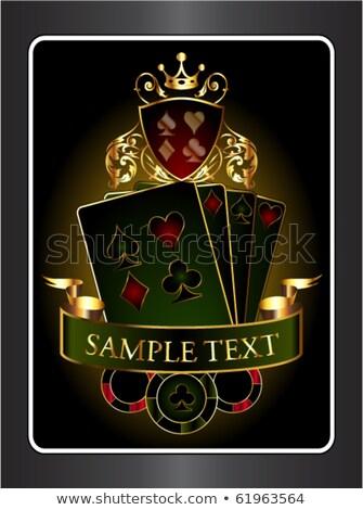 Stock fotó: Gyémántok · hazárdjáték · halom · játszik · kártya · öltönyök