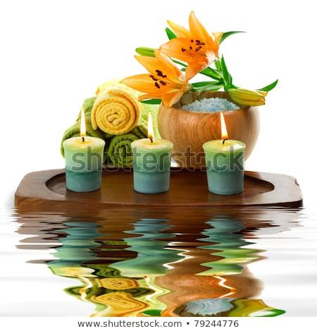 elementos · estância · termal · massagem · luz · de · velas · beleza · medicina - foto stock © yatsenko