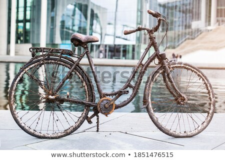 Vecchio abbandonato bicicletta mare acqua monocromatico Foto d'archivio © stevanovicigor