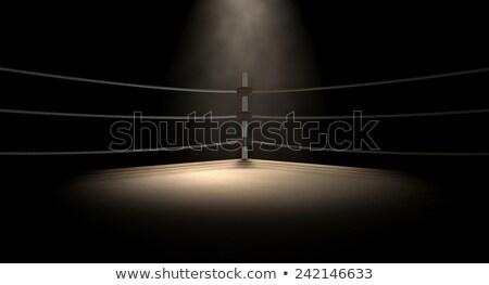 boks · pierścień · ciemne · liny · odizolowany - zdjęcia stock © albund