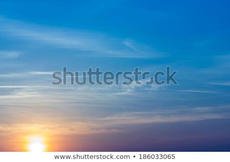 Blauwe hemel spectaculaire foto Blauw middellandse zee Stockfoto © akarelias