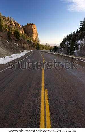 lege · twee · asfalt · weg · snelweg - stockfoto © cboswell