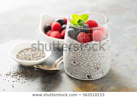 chia pudding with berries fruits Stock photo © M-studio
