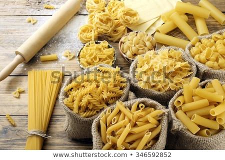 secas · macarrão · comida · madeira - foto stock © digifoodstock
