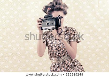 小さな · ブルネット · 少女 · 肖像 · かわいい - ストックフォト © lithian