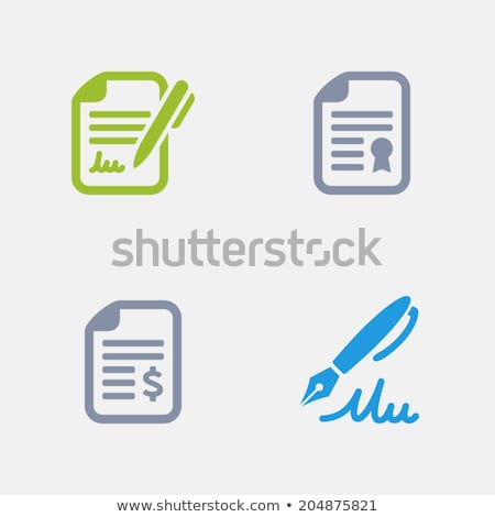 Contracts - Granite Icons stock photo © micromaniac