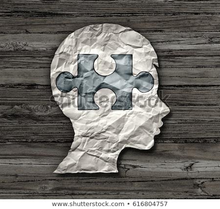 Diagnose Autismus medizinischen 3D-Darstellung gedruckt verschwommen Stock foto © tashatuvango