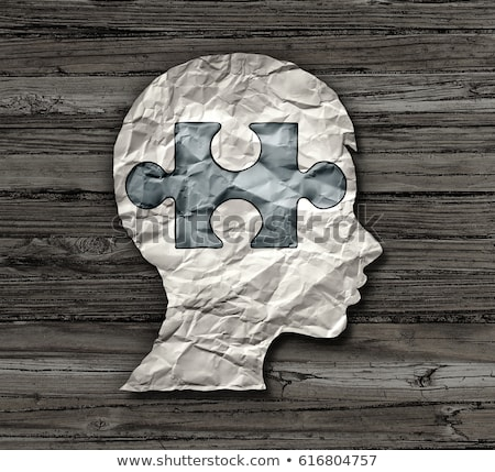 Diagnóstico autismo médicos 3d impreso borroso Foto stock © tashatuvango