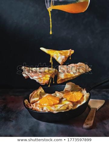 新鮮な オレンジ プレート 薄い パンケーキ オレンジ ストックフォト © Digifoodstock