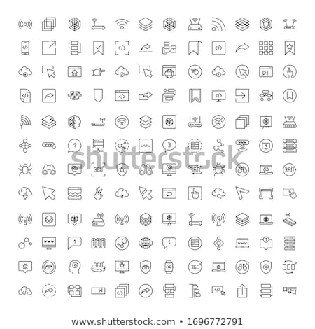 outlined medical icons set collection trendy thin line design easy to recolor and resize stock photo © jeksongraphics